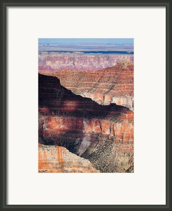 Canyon Layers Framed Print By David Bowman