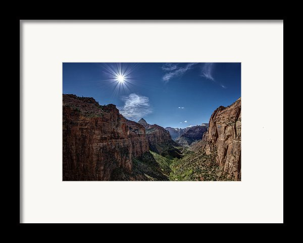 Canyon Overlook Framed Print By Jeff Burton