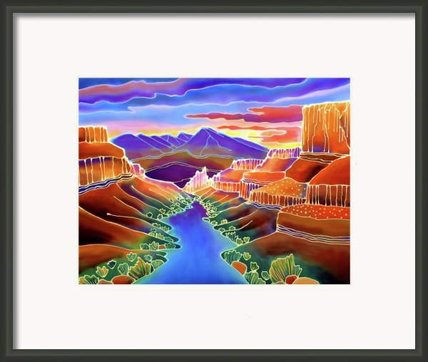 Canyon Sunrise Framed Print By Harriet Peck Taylor