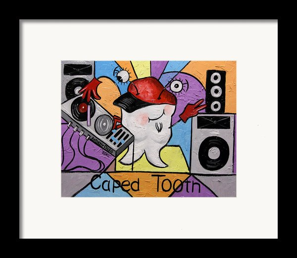 Caped Tooth Framed Print By Anthony Falbo