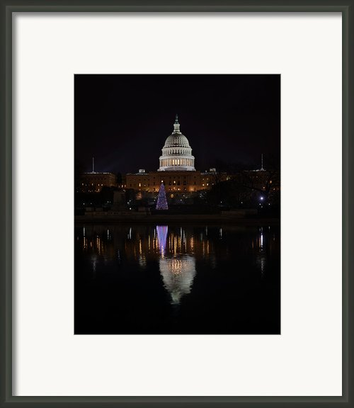 Capitol Christmas - 2012 Framed Print By Metro Dc Photography