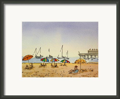 Capitola - California Sketchbook Project  Framed Print By Irina Sztukowski