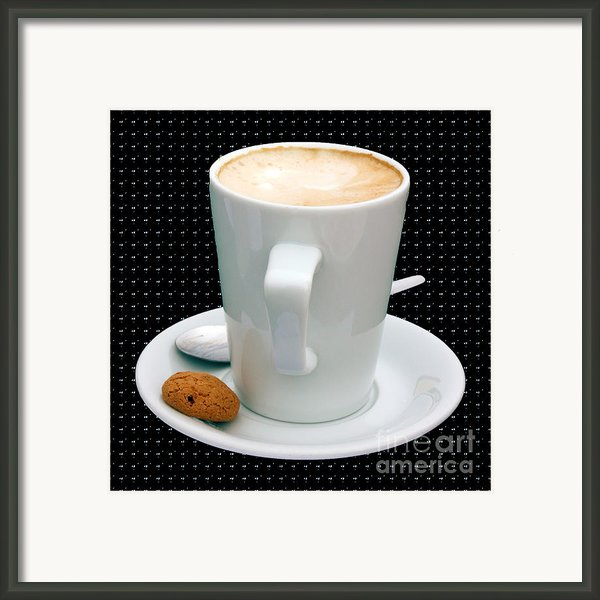 Cappuccino With An Amaretti Biscuit Framed Print By Terri  Waters