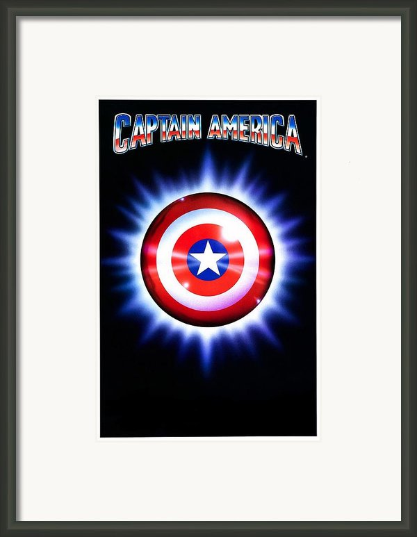 Captain America  Framed Print By Movie Poster Prints