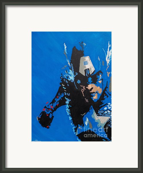 Captain America - Out Of The Blue Framed Print By Kelly Hartman