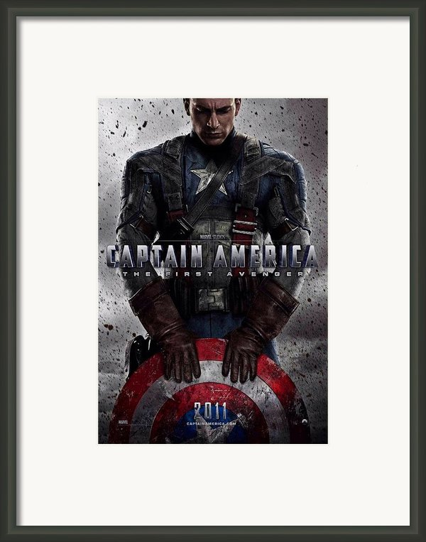 Captain America The First Avenger  Framed Print By Movie Poster Prints