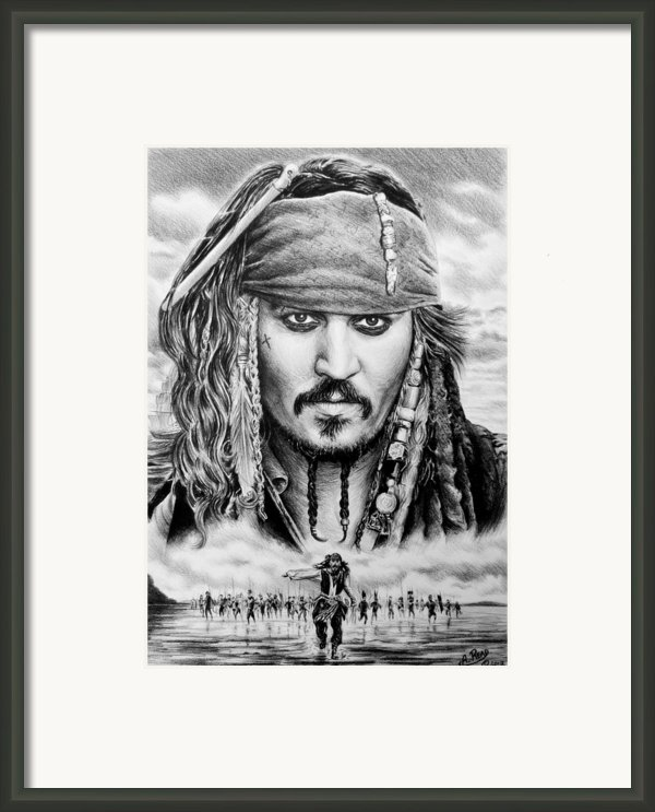 Captain Jack Sparrow 2 Framed Print By Andrew Read