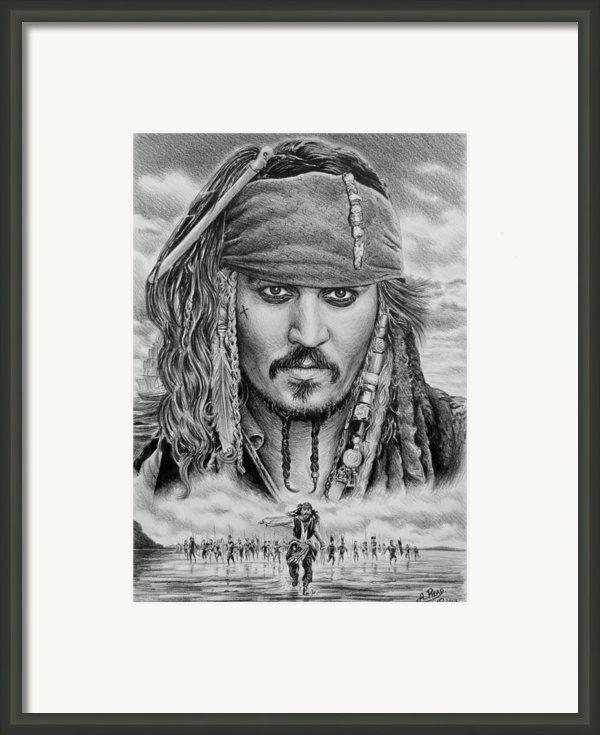Captain Jack Sparrow Framed Print By Andrew Read