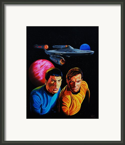Captain Kirk And Mr. Spock Framed Print By Robert Steen