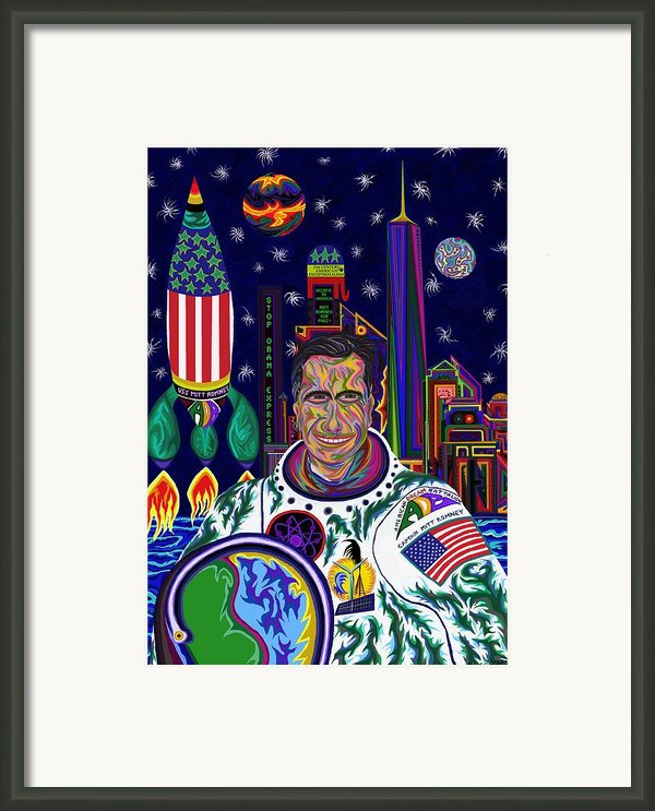 Captain Mitt Romney - American Dream Warrior Framed Print By Robert  Sorensen