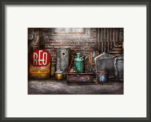Car - Station - I Fix Cars  Framed Print By Mike Savad