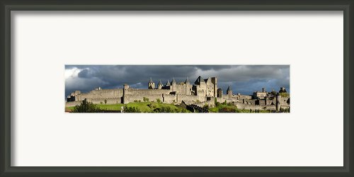 Carcassonne Panorama Framed Print By Robert Lacy