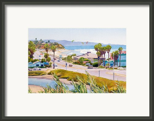 Cardiff Restaurant Row Framed Print By Mary Helmreich