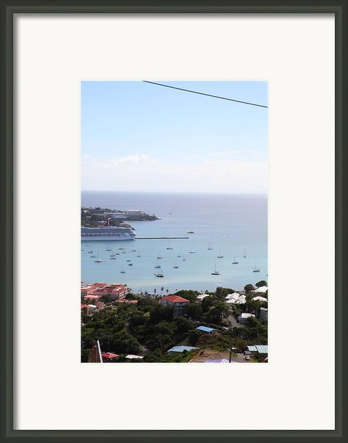 Caribbean Cruise - St Thomas - 1212283 Framed Print By Dc Photographer