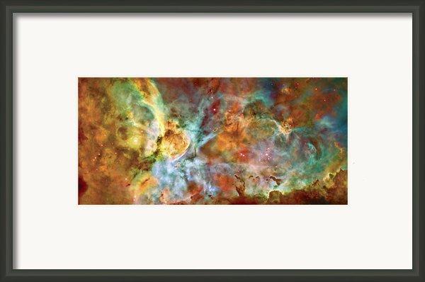 Carina Nebula - Interpretation 1 Framed Print By The  Vault - Jennifer Rondinelli Reilly