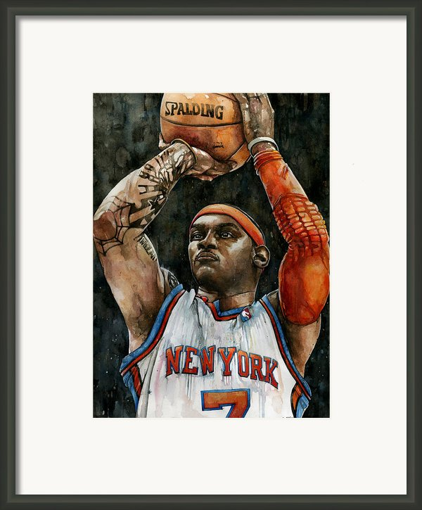 Carmelo Anthony Framed Print By Michael  Pattison