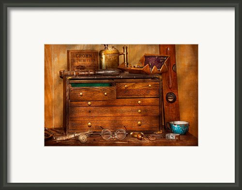Carpentry - Tools - In My Younger Days  Framed Print By Mike Savad