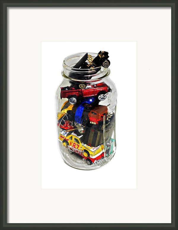 Cars In A Jar Framed Print By Susan Leggett