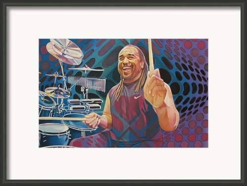 Carter Beauford Pop-op Series Framed Print By Joshua Morton