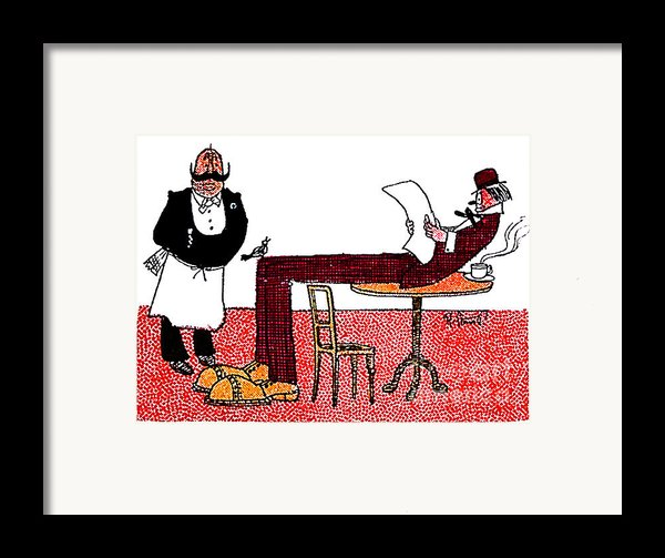 Cartoon 06 Framed Print By Svetlana Sewell