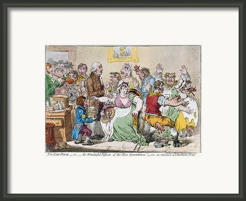 Cartoon: Vaccination, 1802 Framed Print By Granger