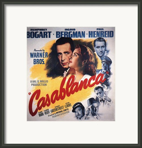 Casablanca In Color Framed Print By Nomad Art And  Design