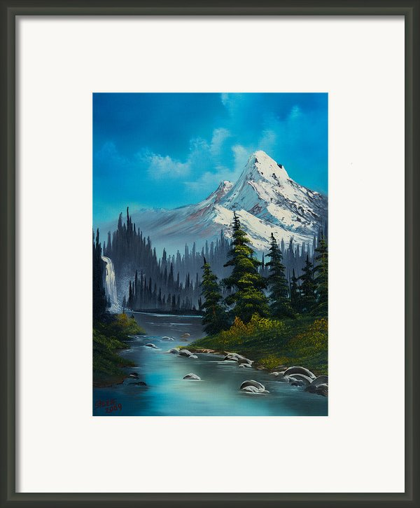 Cascading Falls Framed Print By C Steele