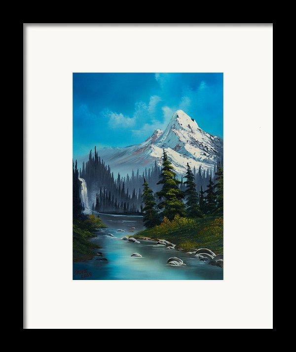 Cascading Falls Framed Print By C Steele