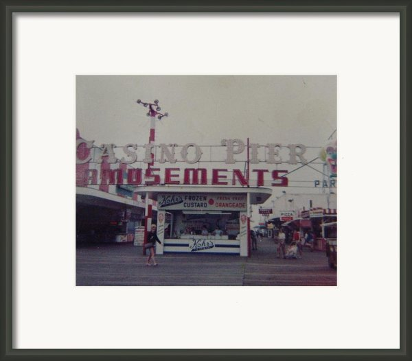 Casino Pier Amusements Seaside Heights Nj Framed Print By Joann Renner