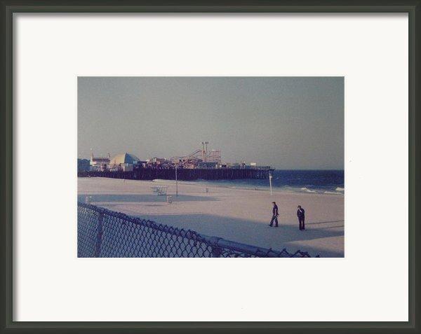 Casino Pier Seaside Heights Nj Framed Print By Joann Renner