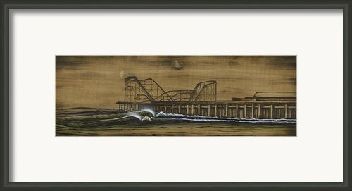 Casino Pier Tribute Framed Print By Ronnie Jackson