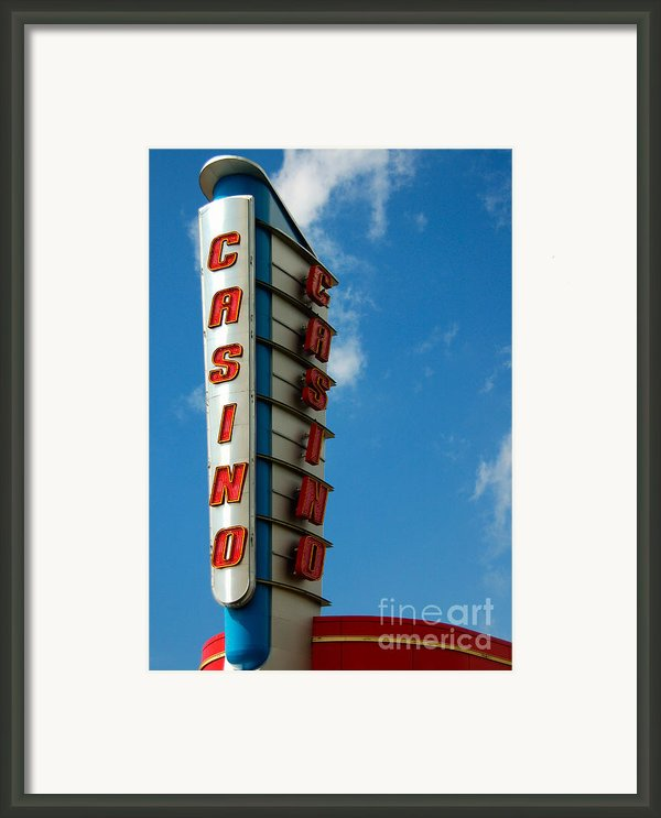 Casino Sign Framed Print By Norman Pogson