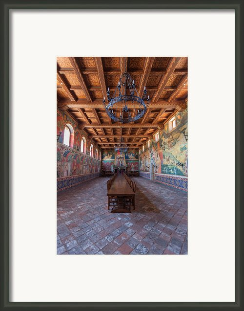Castelle Di Amorosa Dining Hall Framed Print By Scott Campbell