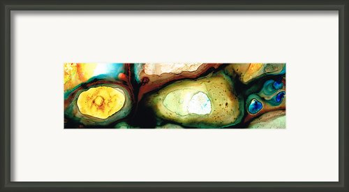 Casting Shadows - Earthy Abstract By Sharon Cummings Framed Print By Sharon Cummings