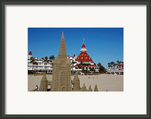 Castle In The Sand Framed Print By Craig Carter