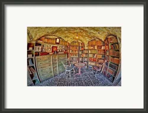 Castle Map Room Framed Print By Susan Candelario