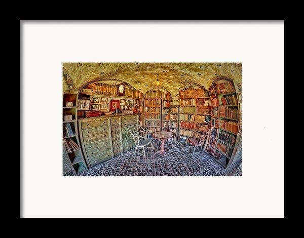 Castle Map Room Framed Print By Susan Candelario