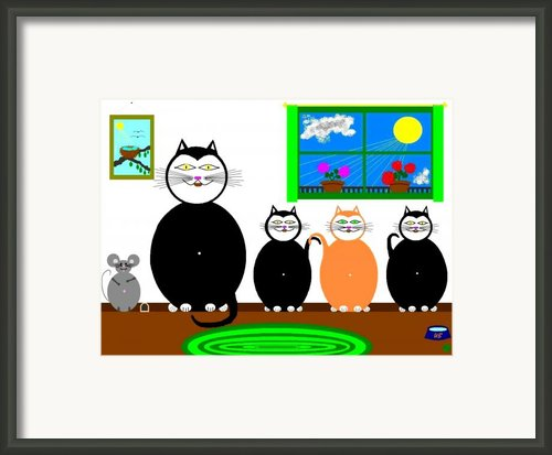 Cat And Mouse Family Framed Print By Will Borden