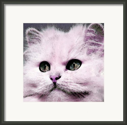 Cat Art - My Eyes Adore You Framed Print By Sharon Cummings