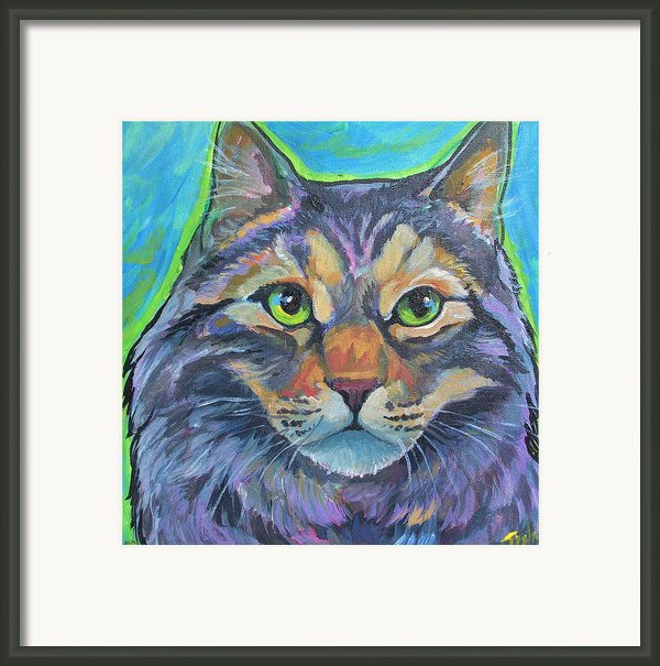 Cat Commission 2 Framed Print By Jenn Cunningham