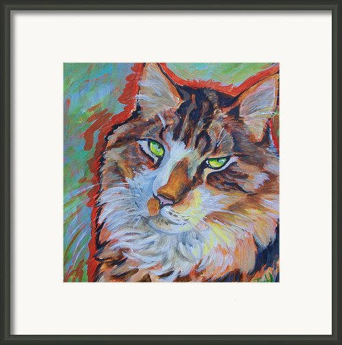 Cat Commission Framed Print By Jenn Cunningham