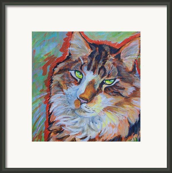 Cat Commission Framed Print By Jenn Cunningham