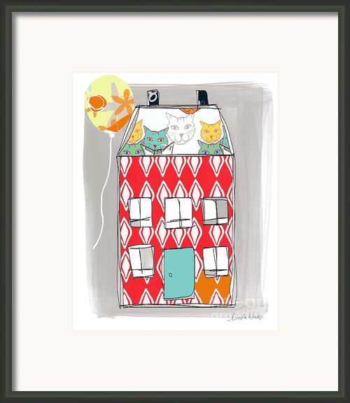 Cat House Framed Print By Linda Woods