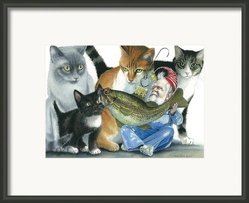 Catatomic Framed Print By Denny Bond