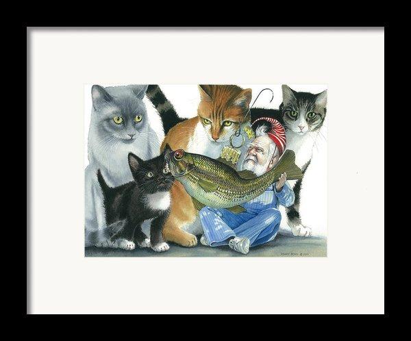 Catatomic Framed Print By Denny Bond