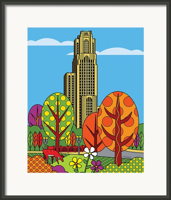 Cathedral Of Learning Framed Print By Ron Magnes