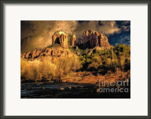 Cathedral Rock - Before The Rains Came Framed Print By Jon Burch Photography