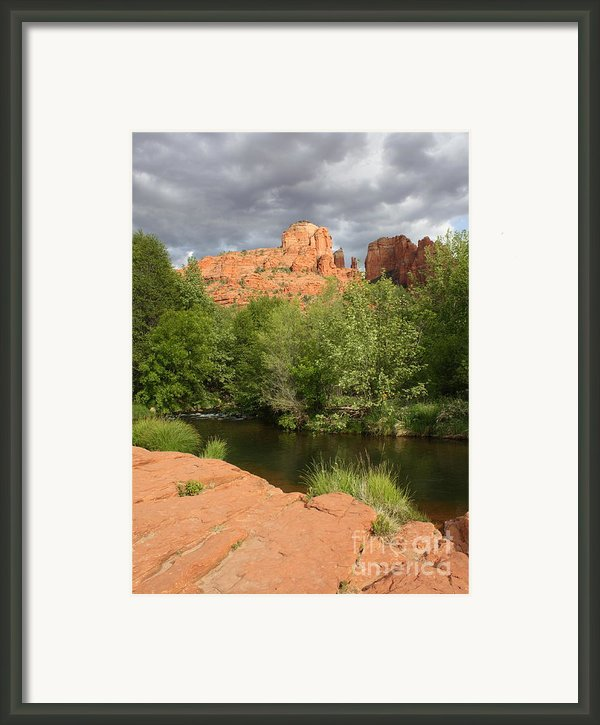 Cathedral Rock Framed Print By Carol Groenen