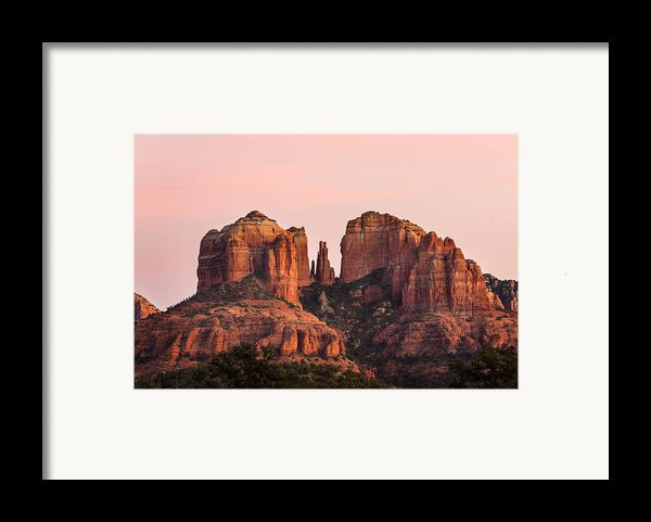 Cathedral Rock Sunset Framed Print By Mary Jo Allen