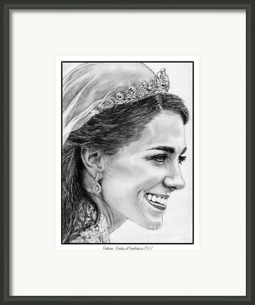 Catherine - Duchess Of Cambridge In 2011 Framed Print By J Mccombie